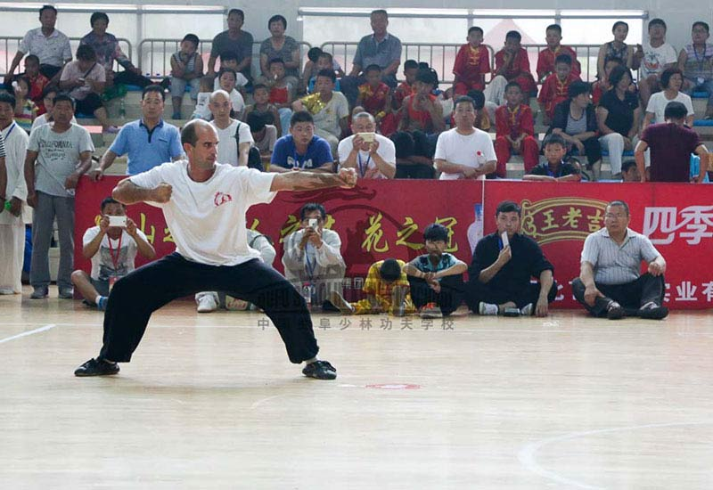 Competition in china kung fu punch