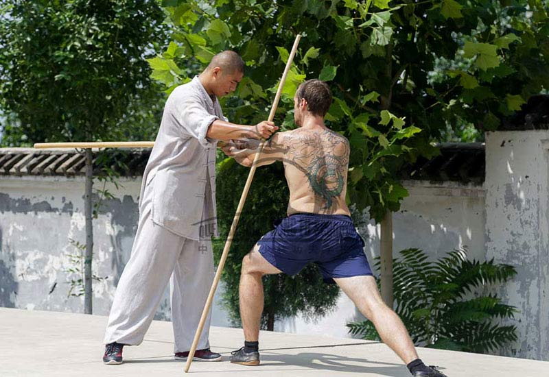 Dragon tatto Shaolin Kung Fu Staff Training