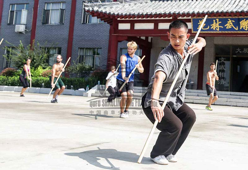 Shaolin Kung Fu Staff Training