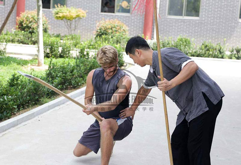 Shaolin Kung Fu Student_Learing Spear Form