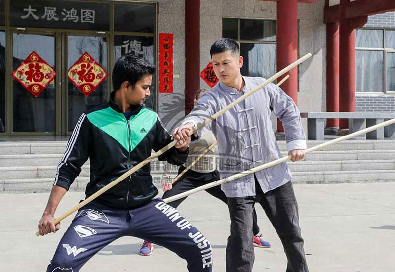 Shaolin Warrior Teaching Indian Student
