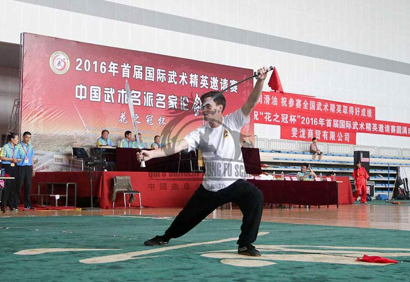 double sword kungfu Competition