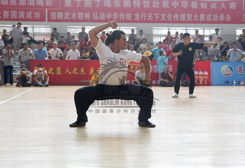 foreigner in kung fu Competition