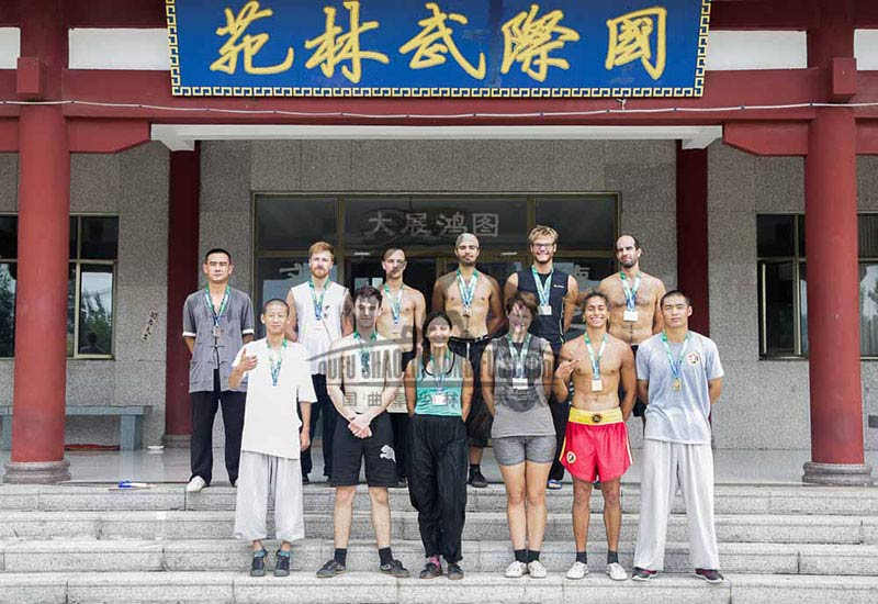 group photo shaolin students