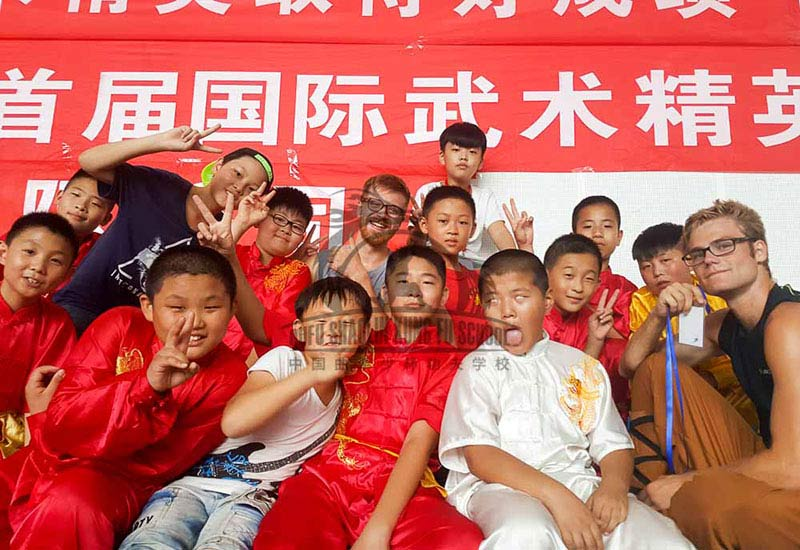 kung fu kids and students in competiton