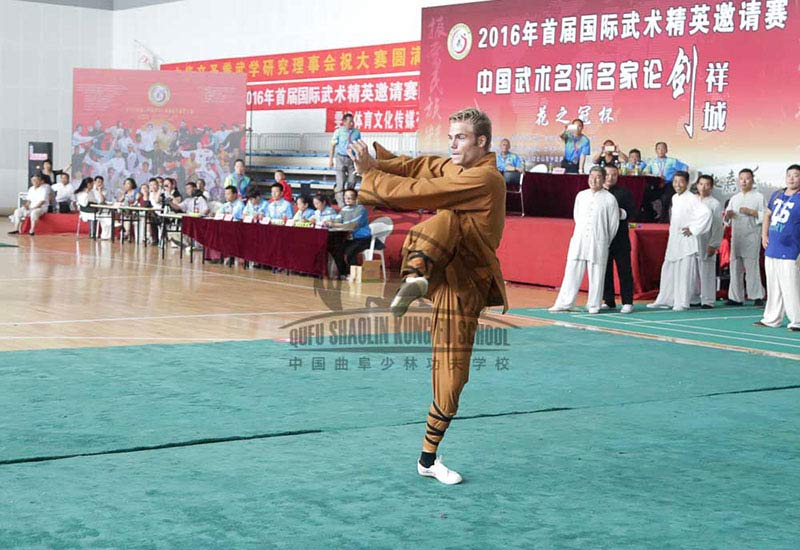 netherland students in china training kung fu