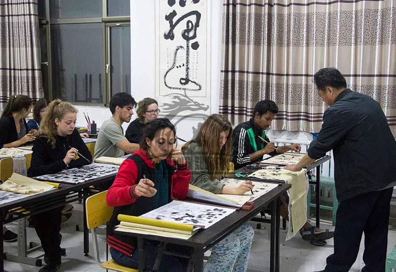 students chinese Calligraphy