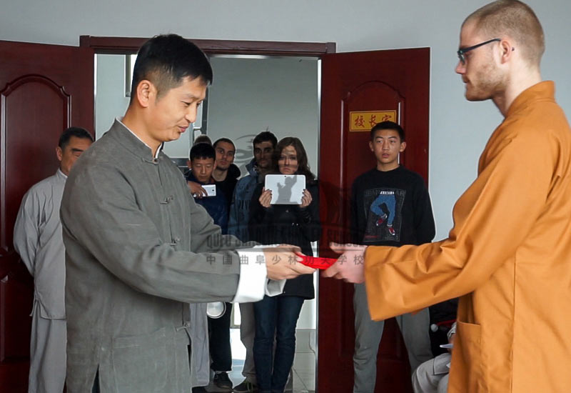 Disciple Ceremony to become a real shaolin warrior monk