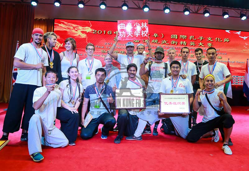 group picture on Kung Fu Competition
