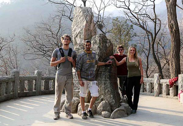 mount tai with school group